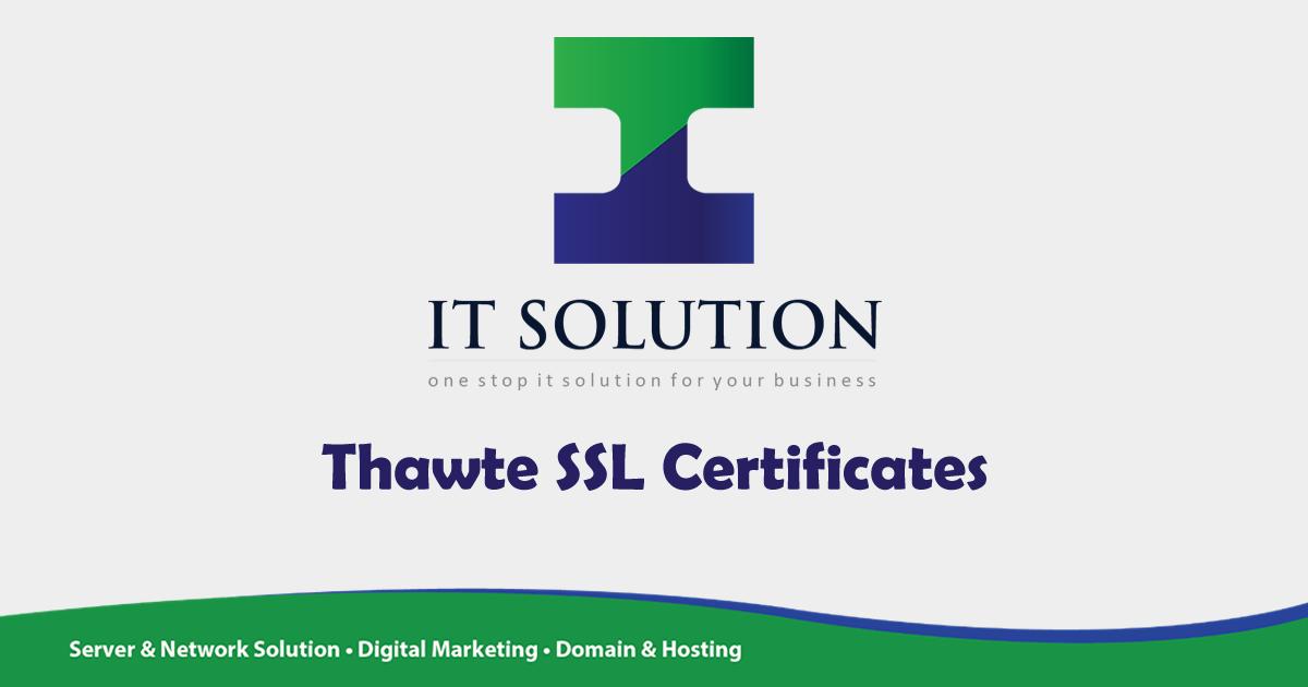 Thawte Ssl Certificates It Solution Pte Ltd